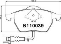 AUDI A3 1996-... . Колодки тормозные