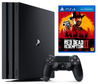 Game Console Sony PlayStation 4 PRO 1TB Black, 1 x Gamepad (Dualshock 4) + Red Dead Redemption
