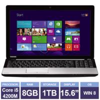 "Ноутбук Toshiba Satellite C55-A-1N1 Silver (15,6"" | Intel Core i5-4200M | 8 GB RAM | 1 TB HDD | Windows 8)"