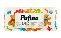 Туалетная бумага Pufina DIDI 8 рулонов трехслойная