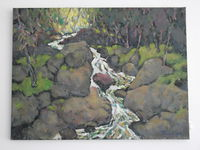 Горная речка, 60x80 см., холст, масло