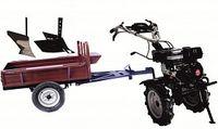 Set motocultivator TECHNOWORKER HB 700RS ECO+Remorca RK500 + plug simplu + plug reglabil