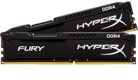 RAM DDR4-2400 4096MB Kingston HyperX FURY PC4-19200, CL15 Black
