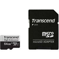 Сard de memorie Transcend MicroSD 64Gb Class 10 UHS-I + Adapter (TS64GUSD350V)