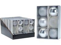 Набор шаров 6X80mm, серебряные, в коробке