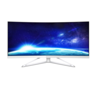 "34.0"" Philips ""349X7FJEW"", Black (VA-Curved, 2560x1440, 4ms,300cd,LED50M:1, DP+HDMI, USB, Spks, HAS) (34.0"" Curved-VA W-LED, 3440x1440 UWQHD, 4ms GTG, 300 cd/m², DCR 50 Mln:1 (1000:1), 99% sRGB Color, DisplayPort 1.2 + HDMI 2.0 + HDMI 1.4, Audio-In, Headphone-Out, Built-in speakers 5W x2, USB 3.0x4 Hub (1 w/fast charging), External Power Adapter, HAS (Tilt -5/+20°), MultiView PIP/PBP mode, 2x devices; Curved display (R=3.8m) design; Ultra-Narrow Border, White-Glossy,Foot: Silver/Chrome)"