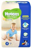 Huggies Ultra Comfort Small Boy 4 (8-14 кг.) 19 шт.
