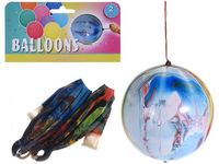 Набор шаров воздушных разноцветных 2шт, с резинкой