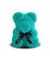 купить Медведь из бирюзовых   роз 40 см в Кишинёве