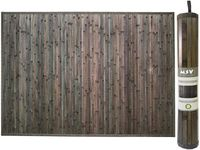 Коврик для ванной комнаты 50X80cm серый, бамбук