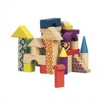 Battat Деревянные кубики Домик разноцветный
