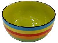 Салатница 20cm разноцветные полоски(голуб), керамика