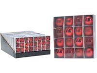 Набор шаров 16X40mm, красные, в коробке