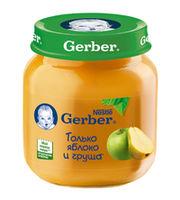 Gerber пюре яблоко-груша 5+мес. 130г