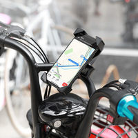 Автодержатель Hoco CA58 Light ride one-button bicycle motorcycle universal holder