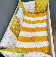 Комплект постельного белья в кроватку Pampy Yellow stars