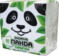 PANDA Салфетки столовые белые 2 слоя 24*24  50шт