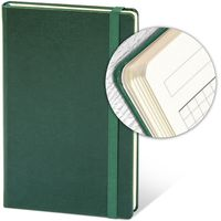 Ежедневник недатир. 13x21 см, 96 л, резинка, зеленый