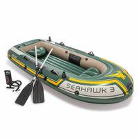 Надувная лодка Intex Seahawk-3, трехместная, 295х137x43 см