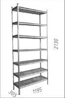 купить Стеллаж оцинкованный металлический  Gama Box  1195Wx305Dx2130H мм, 7 полки/МРВ в Кишинёве