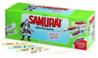 Зубочистки стерилизованные Samurai в индивидуальной упаковке 1000шт