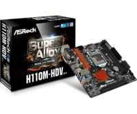 """MB ASRock H110M-HDV R3.0 mATX //  CPU Supports 7th and 6th Gen Intel® Core™ Processors"""