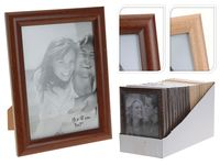 Rama foto din lemn 13X18cm, culoare naturala/cafenie