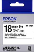 C53S655006 Tape Epson LK5WBN Std Blk/Wht 18/9