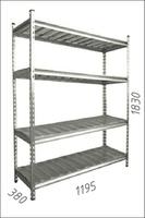 Стеллаж оцинкованный металлический Gama Box 1195Wx380Dx1830 Hмм, 4 полки/МРВ