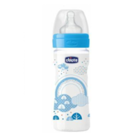 Chicco Biberon tetină silicon Well Being Boy, 250ml