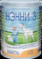 Молочная смесь на основе козьего молока Нэнни 3 с пребиотиками, 400г
