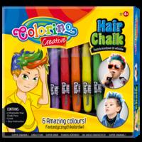 Мелки для волос 6 шт. + аксессуары для мальчиков  Colorino
