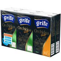 Платок носовой ORHIDEEA- GOLD, 4-слойный, 6 упаковок