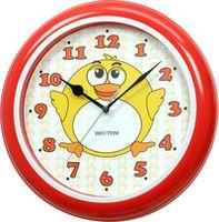 Часы RHYTHM настенные, круглые/красные