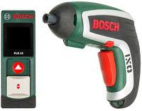 Набор из двух предметов Bosch шуруповерт IXO + дальномер PLR 15