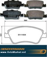TOYOTA Auris 1,4D-4D 2007-2012 Колодки передние