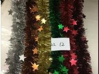 Мишура елочная 2mX8cm со звездочками