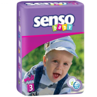 Senso Baby Scutece Midi 3, 4-9 kg, 70 buc.
