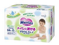 Влажные салфетки Merries 64x3 запасной блок