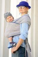 Трикотажный слинг-шарф Светло серый WrapBag by Bagy