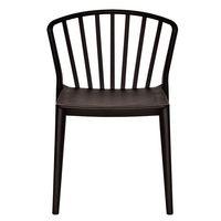 Пластиковый стул 550.5x570.5x780 мм, черный