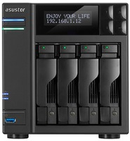 ASUSTOR 4-bay AS7004T, черный