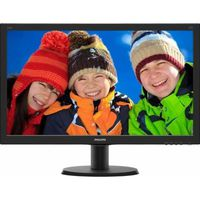 """23.8"""" Philips """"240V5QDAB"""", Black (IPS, 1920x1080, 5ms, 250cd, LED10M:1, HDMI +DVI +D-Sub, Speakers) (23.8"""" IPS-ADS W-LED, 1920x1080 Full-HD, 0.275mm, 5 ms GtG, 250 cd/m², DCR 10 Mln:1 (1000:1), 16.7M Colors, 178°/178° @C/R>10, 30-83 kHz(H)/56-76 Hz(V), HDMI + DVI-D + Analog D-Sub, Stereo Audio-In, Headphone-Out, Built-in speakers, Built-in PSU, Fixed Stand (Tilt -5/+20°), VESA Mount 100x100, Black-Hairline)"""