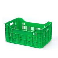 cumpără Ladă din plastic A101, 530x350x315 mm, verde în Chișinău