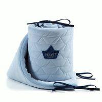Бортики в кроватку LaMillou Velvet Collection Powder Blue