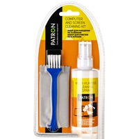 "Cleaning kit for LCD PATRON ""F4-013"", Gel-Spray 200 ml + Microfibre 200x300mm + Brush"
