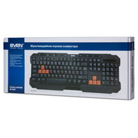 cumpără SVEN Challenge 9700, Multimedia Keyboard, 9-keys, 8 replacement keycaps for gaming included, soft touch coating, USB, Black în Chișinău