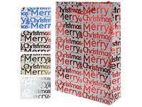 """cumpără Punga pentru cadouri """"Merry Christmas"""" 34.5X25X8.5cm albastra, rosie, argintie, aurie în Chișinău"""