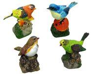 Птица декоративная поющая H10cm, 6X6cm