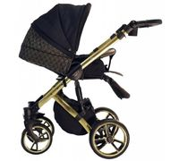 Коляска Baby Merc Faster 2in1 L/143 Black\gold